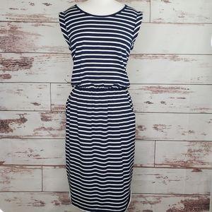 Striped casual dress Boden Blackberry Day 8L